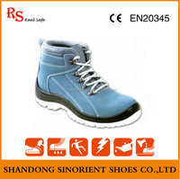 Light blue comfortable men security boots and woodland safety shoes Low price RS525