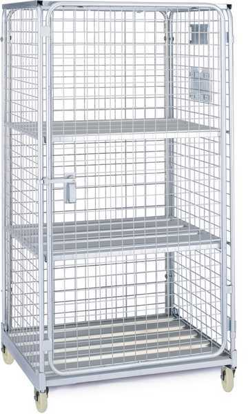 Unfolding metal storage cage trolley(RHB-AL025)
