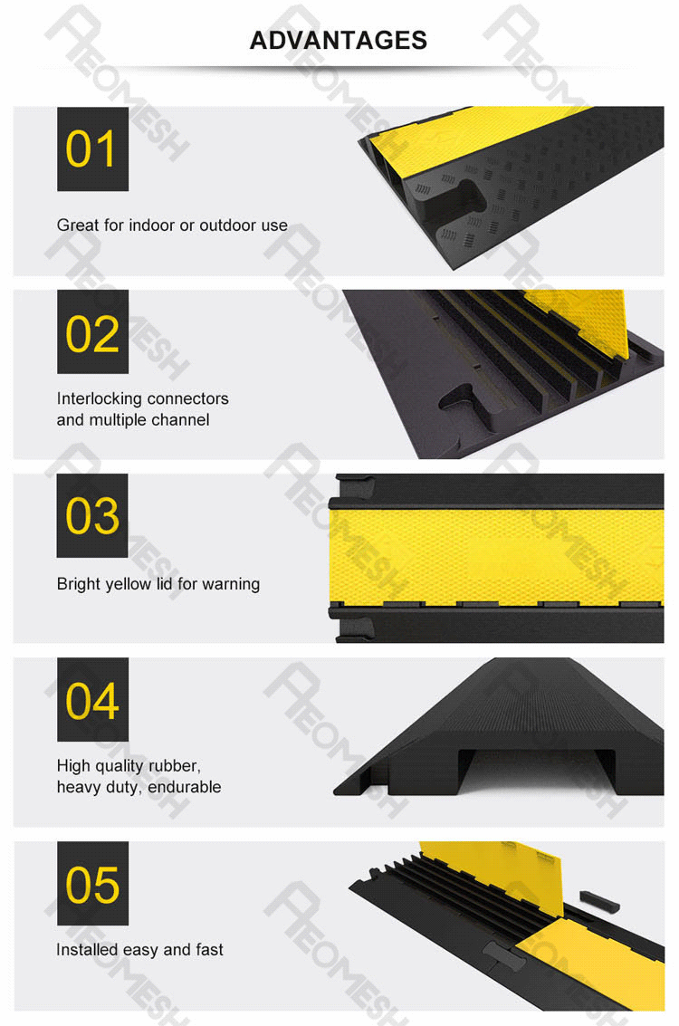 Made in Guangzhou Professional Factory Rubber Cable Protector Ramp