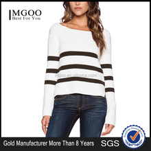 MGOO Cheap Price Wholesale White Pullover O-Neck Fashion Women Sweater Latest Deisgn Sweaters for young 8419