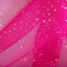 Alibaba China 100% Polyester mesh wholesale glitter mesh fabric