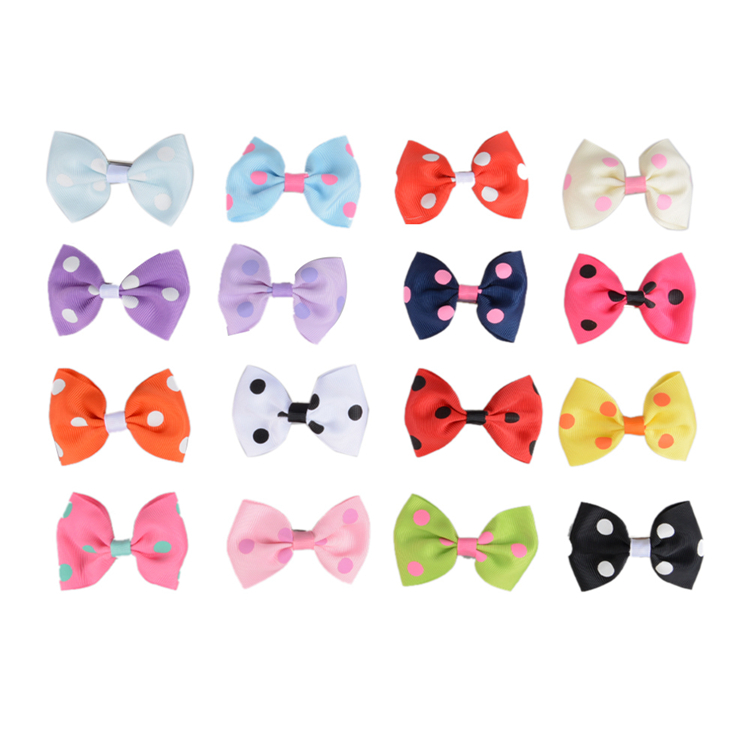 T066 Wholesale Best Price grosgrain girl hair bows with clips