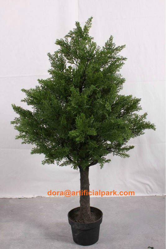 hot sale SJA1338 Artificial plant bonsai fake yacca/ pine and cypress tree