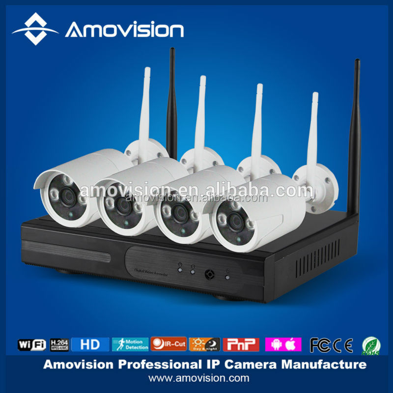 2015 hot sale ! WNK402 2015 NEW arrival Wireless Surveillance System 4ch Wifi NVR Kits 4 channel 720P