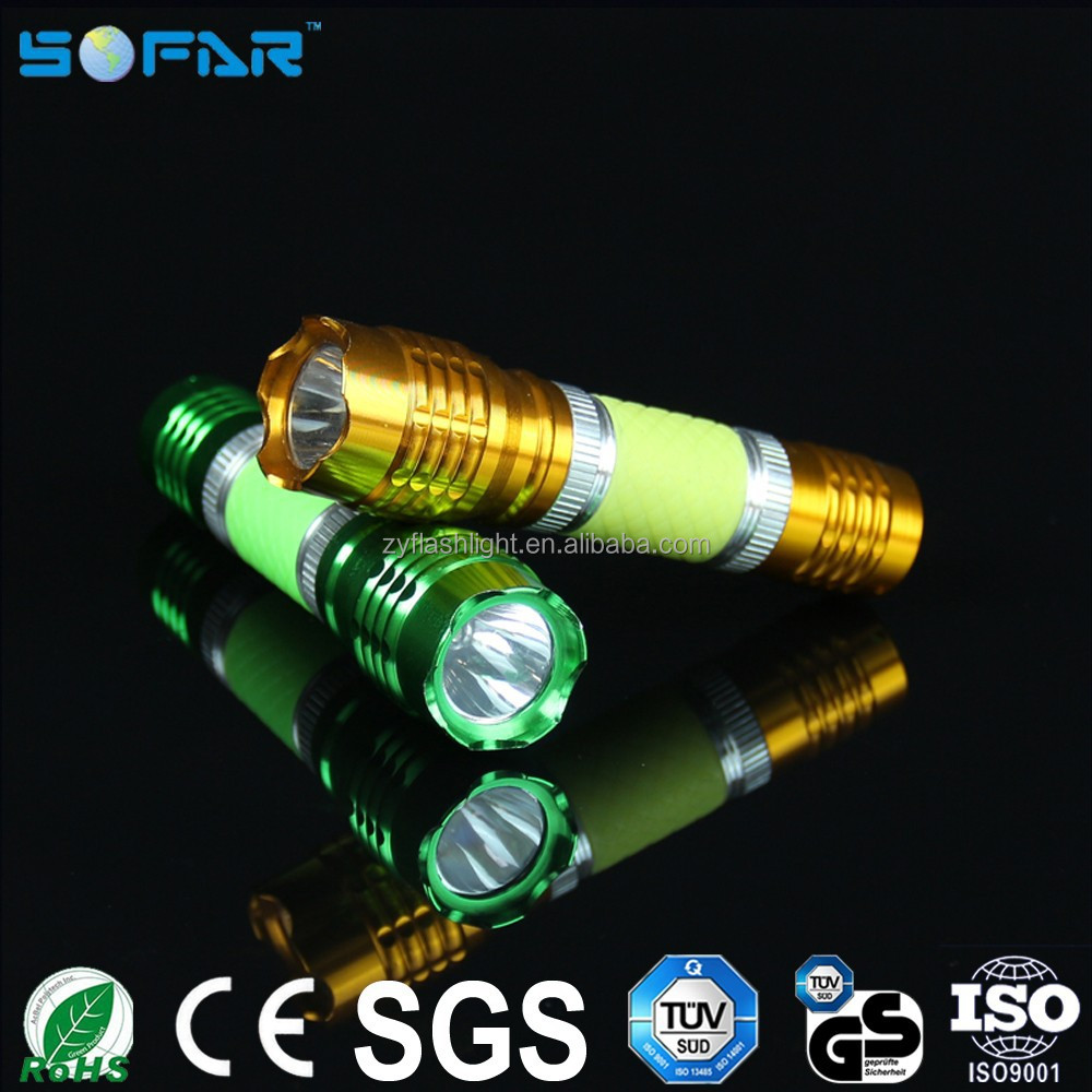 Camping small led torches lights batty powered flexible aluminum mini led flashlights