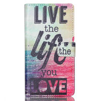 Colorful PU wallet leather case pouch bag for Sony Xperia M4 Auqa