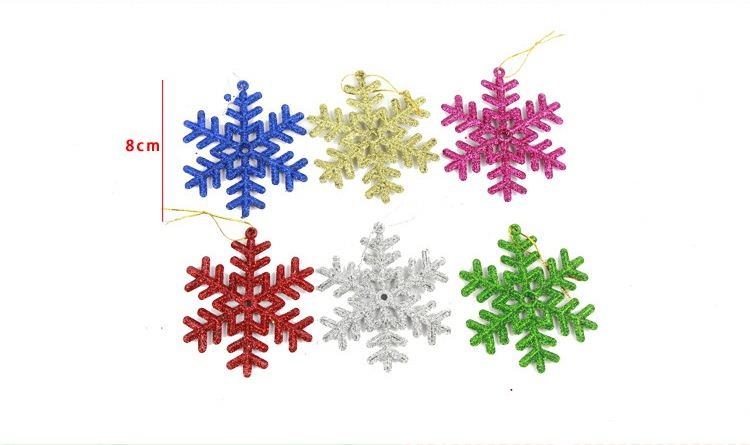 48pcs/144pcs hang up Christmas assorted snowflake 3cm non-woven motif felt