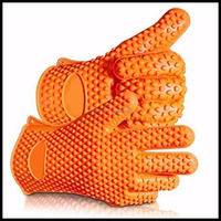 Hot selling food grade silicone heat resistant gloves