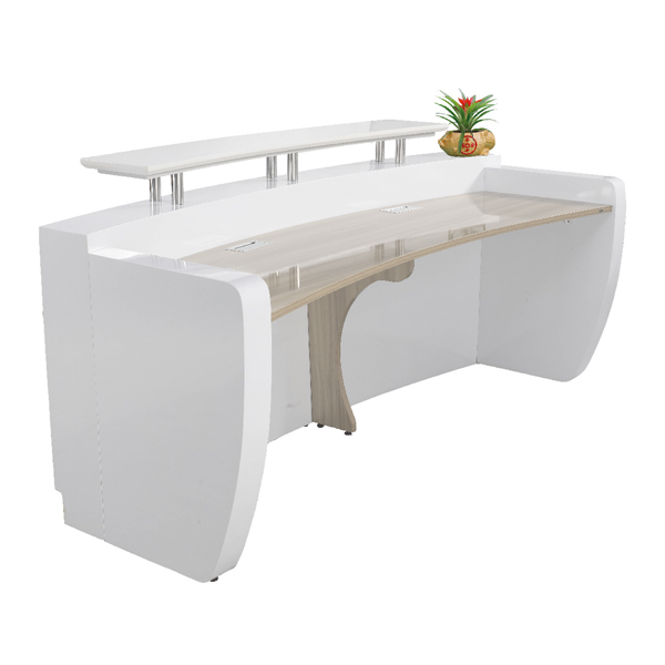 Modern White Curved Reception Desk Front Desk For Sale