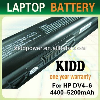 Laptop battery for HP DV4 6cells