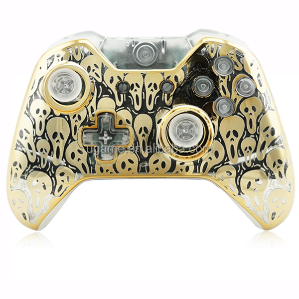 Gold Scream Ghost Clear Shell for Xbox one shell New Design