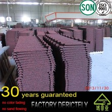 real factory wholesale new arrival 100% Natural Colorful stone coated metal roofing materials,Roofing