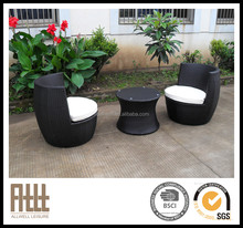 AWRF5003 stackable space saving teak wicker rattan love chair patio furniture,rattan love chair