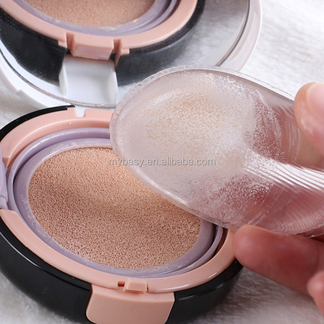 1pcs Silicone gel lady face Foundation Soft makeup puff cosmetic Beauty tools not Sponge Powder blender for women BB CC