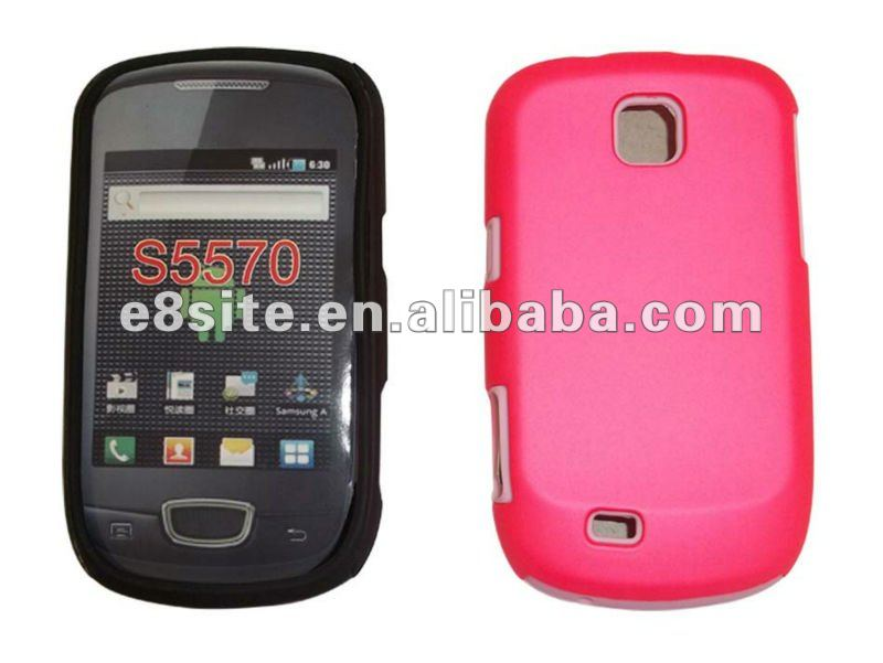 Cell Phone Rubberized PC+Silicone Combo Case For SamSung S5570 Galaxy Mini
