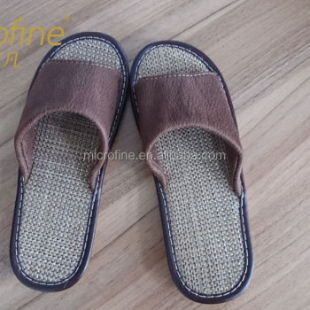 Bamboo and hemp sole suede bronzing slippers Thermoplastic elastomer bottom