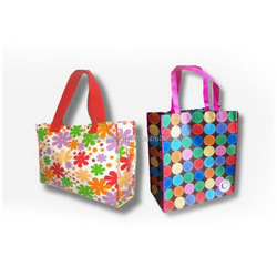 color printing metallic shopping bag, pp non woven shopping bag
