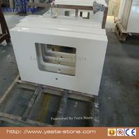 Yasta Prefab bathroom engineered white quartz countertop