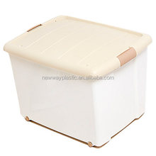 60l colorful plastic storage box with lids for warehouse