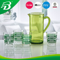 PLASTIC PITCHER AND CUPS SET
