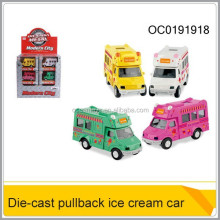 Alloy car metal ice cream car die cast toys pullback mini car