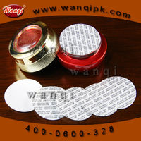 Pressure sensitive seal liner adhesive film for piece of bottle