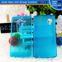 New Design Pure Color TPU Material Flip Case for LG Nexus 5