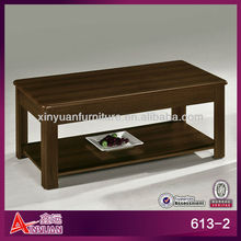613-2 wooden cheap 2 level opium coffee table