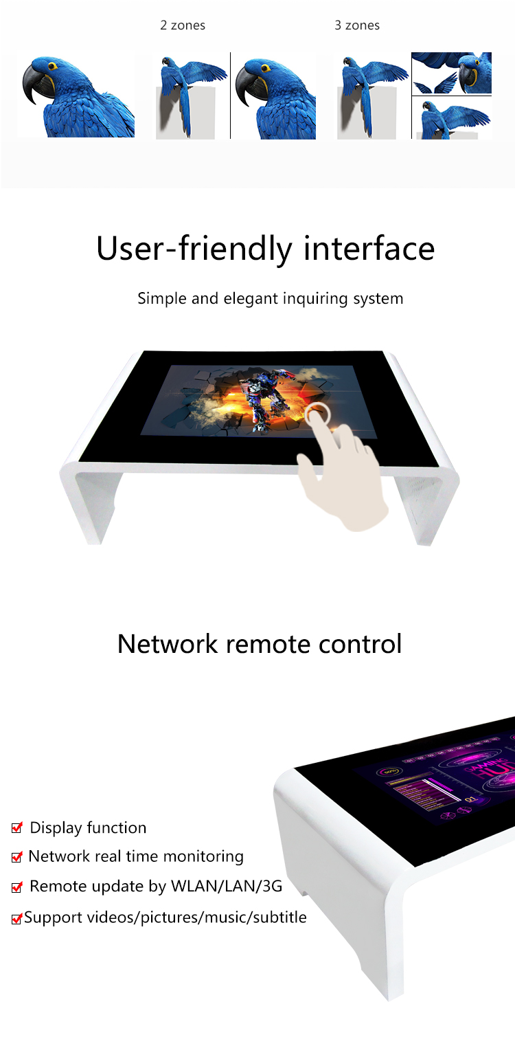 55inch interactive multi touch table price/restaurant touch table