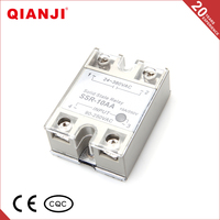 QIANJI Online Shop China White Cover Single Phase Solid State Relay 10A