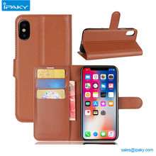 Pocket Id Card Slot Mobile Flip Back Cover Leather Stand Wallet Phone Case For Iphone X 10