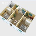 2 bedroom floor plans with prefabricated house
