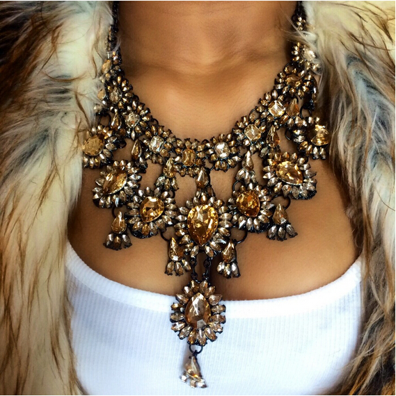 New Fashion Jewelry big pendant diffuser chunky statement necklace B134H