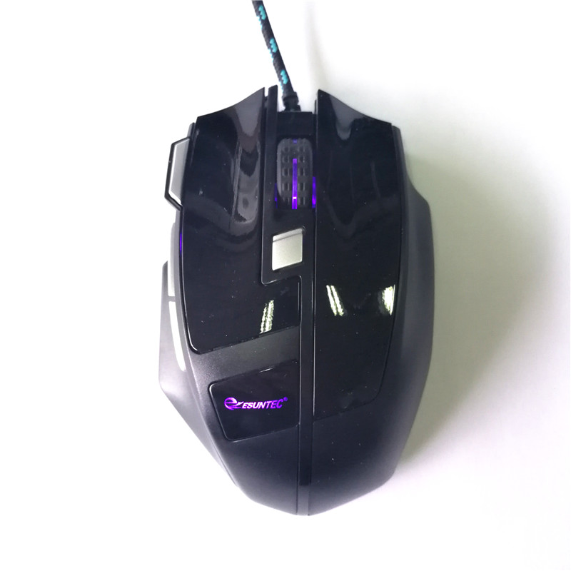 OEM Manufacturer Wired Optical Computer Gaming Mouse With LED Light GM-166