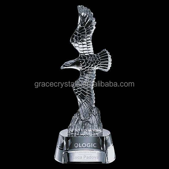 Crystal military trophy sports gifts eagle souvenir trophy