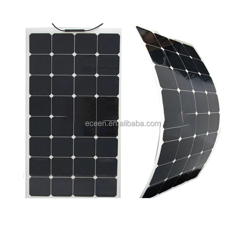 Monocrystal Silicon 100W Flexible Solar Panels