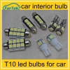 car interior light led car bulb t10 led