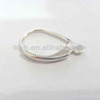 H829 Sterling Silver 925 Jewelry Drop Earring Lever Back 15*10.5mm