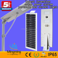30 watt latest invention solar power system portable led street light 5 years warranty