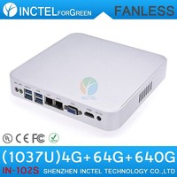 2015 new product laptop from china supplier with Intel Celeron 1037u 1.8Ghz Dual Nics fanless mini pc
