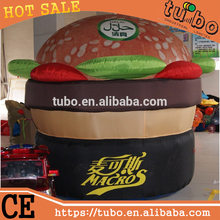 hot sale custom giant inflatable advertising hamburger model/inflatable burger model for inflatable advertising