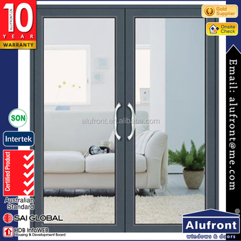 AS2047 certified Hurricane impact aluminum hinged door with double glazing