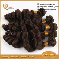 Natural 7a Brazilian Virgin Hair Loose Wave Auburn Remy Hair Weaves For Black Women