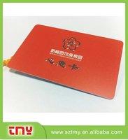 Customized metal logo KTV membership cards hair cut membership cards