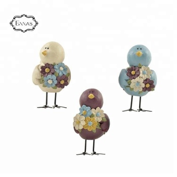 Christmas small garden bird decoration with set of three