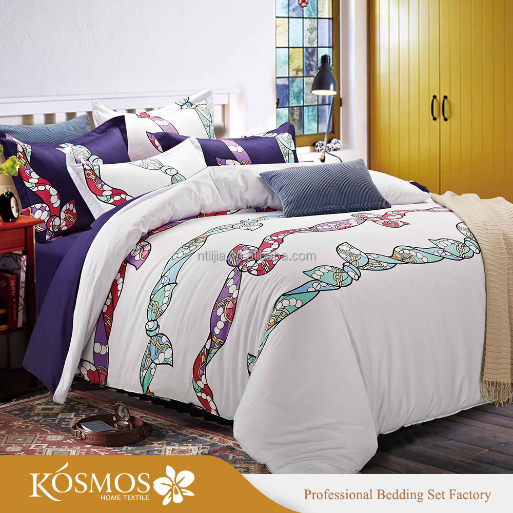 KOSMOS bedding set bed organic cotton fitted crib sheet bedding 100% cotton custom printed bedding sets bed sheets
