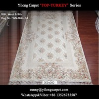 200x300cm 270lines beige handknotted rug double knots silk/wool carpet for sale