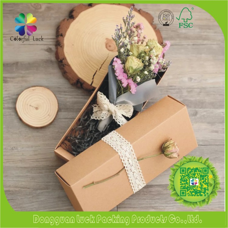 Paper Shipping Delivery Flower Packaging Kraft Box Dry Flower Packaging Design