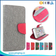 Wallet style mixed color linen leather phone case for digicel dl810