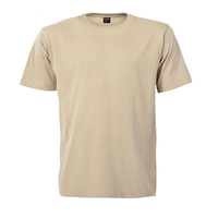 OEM Supply Type 160G Cotton Women T Shirt Beige Color Men T Shirt Plain Dyed Blank Short Sleeve Summer Tee Shirt